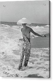 Diana Ewing Playing At A Beach Acrylic Print
