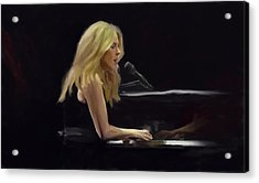 Diana Krall Acrylic Print by G Cannon