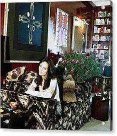 Diane Von Furstenberg At Home Acrylic Print by Horst P. Horst