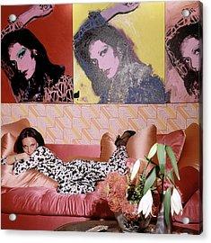 Diane Von Furstenberg In Her New York Living Room Acrylic Print