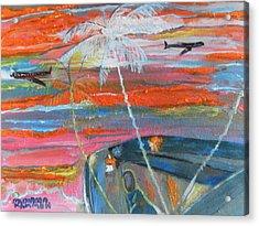 Acrylic Print featuring the painting Diaspora  -  Coming Home by Mudiama Kammoh