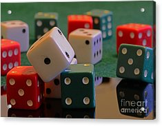 Dice Acrylic Print by Paul Ward