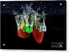 Dice Splash Acrylic Print by Rene Triay Photography