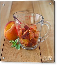 Diced Peaches Acrylic Print by Kay Pickens