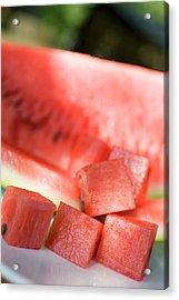 Diced Watermelon Acrylic Print