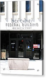 Dick Cheney Federal Bldg. Acrylic Print by Oscar Williams