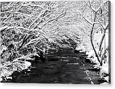 Dick's Creek Snow 2014 Acrylic Print