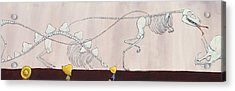 Did Dinosaurs Eat People Acrylic Print by Christy Beckwith