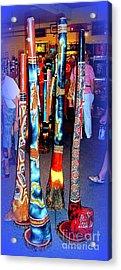 Didgeridoos For Sale Acrylic Print by John Potts