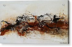 Die Trying1 - Abstract Art Acrylic Print by Ismeta Gruenwald