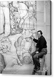Diego Rivera Muralist 1930 Acrylic Print