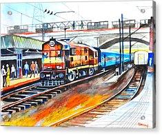 Diesel Engine Acrylic Print