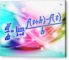 Differential Calculus Equation Acrylic Print
