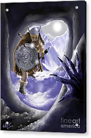 Digging Out Troll Acrylic Print by Rick Mittelstedt