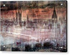 Digital-art London Westminster II Acrylic Print by Melanie Viola