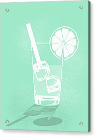 Digital Composite Image Of Cold Drink Acrylic Print by Malte Mueller