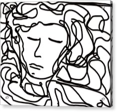 Digital Doodle Acrylic Print