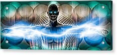 Digital Man Acrylic Print by Panoramic Images