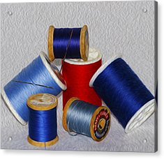 Digital Paint Thread Acrylic Print by Camille Lopez