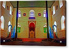 Digital Painting Of A Colouful Derelict Turkish Mosque Acrylic Print