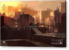 Digital Painting Showing Futuristic Acrylic Print