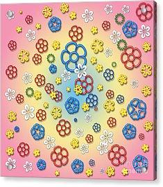 Digital Springtime Acrylic Print by Gaspar Avila