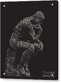 digital Thinker Acrylic Print