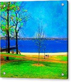 #digitalart #landscape #beach #park Acrylic Print