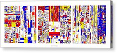 Digits Of Pi Phi And E In A 6 Level Treemap Acrylic Print by Martin Krzywinski
