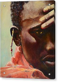 Acrylic Print featuring the painting Dignity by Sher Nasser