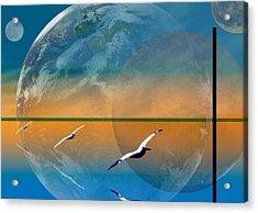 Dimensional Rift Acrylic Print