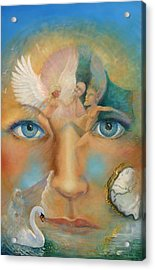 Dimensions Of The Mind Acrylic Print by Peter Jean Caley