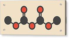 Dimethyl Dicarbonate Molecule Acrylic Print by Molekuul