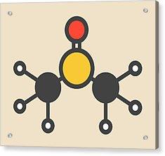 Dimethyl Sulfoxide Molecule Acrylic Print by Molekuul