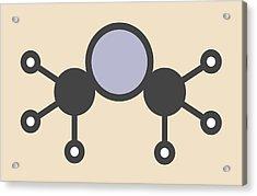 Dimethylmercury Molecule Acrylic Print by Molekuul