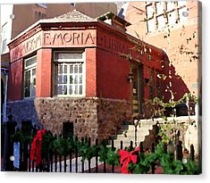 Dimmick Memorial Library In Jim Thorpe Pa - Abstract Acrylic Print by Jacqueline M Lewis