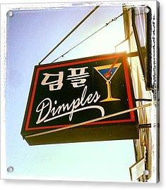 Dimples Japantown Bar Sign #bar #sign Acrylic Print