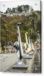 Dinant Sax Tribute 2 Acrylic Print by Deborah Smolinske