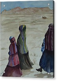Dineh Leaving The Trading Post Acrylic Print