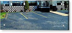Diner At The Asphalt Headwaters Acrylic Print by MJ Olsen