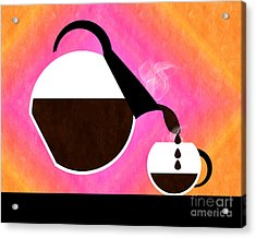Diner Coffee Pot And Cup Sorbet Pouring Acrylic Print