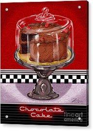 Diner Desserts - Chocolate Cake Acrylic Print