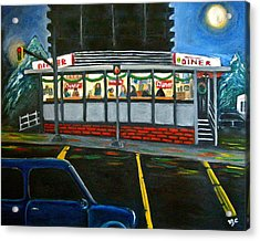 Diner In Arlington Acrylic Print by Victoria Lakes