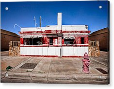 Diner Acrylic Print by Peter Tellone