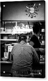 Acrylic Print featuring the photograph Diner Regular by Catherine Fenner