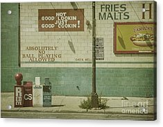 Diner Rules Acrylic Print