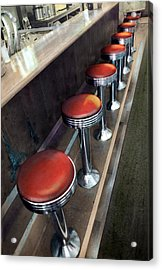 Diner Stools Acrylic Print
