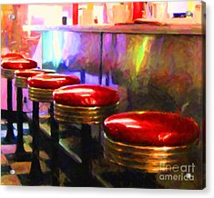 Diner - V2 - Horizontal Acrylic Print by Wingsdomain Art and Photography