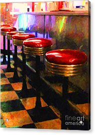 Diner - V2 Acrylic Print by Wingsdomain Art and Photography