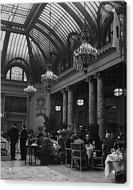 Diners Inside The Old Palace Hotel In California Acrylic Print